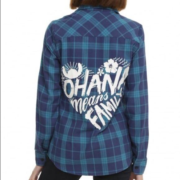dae9e50d Disney Tops | Lilo Stitch Ohana Plaid Shirt | Poshmark
